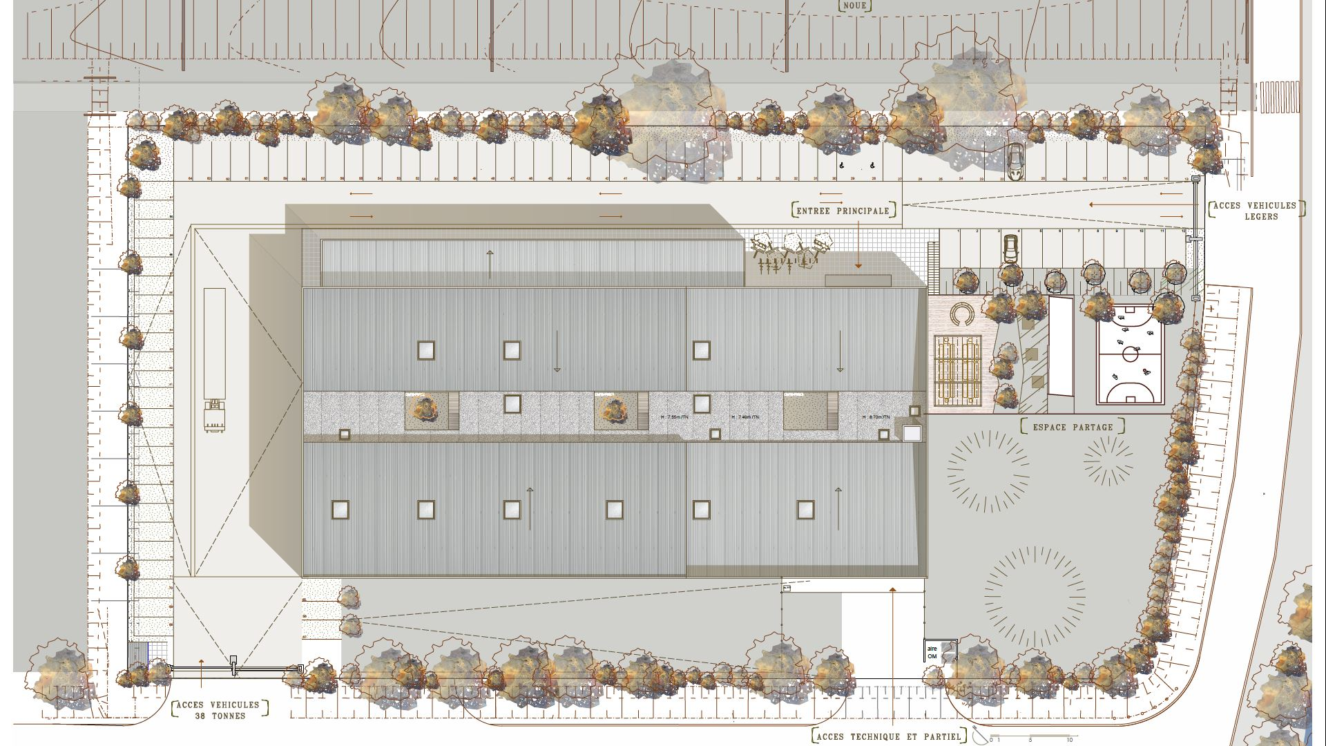 Usine du futur co responsable pujaudran seuil for Plan masse architecture