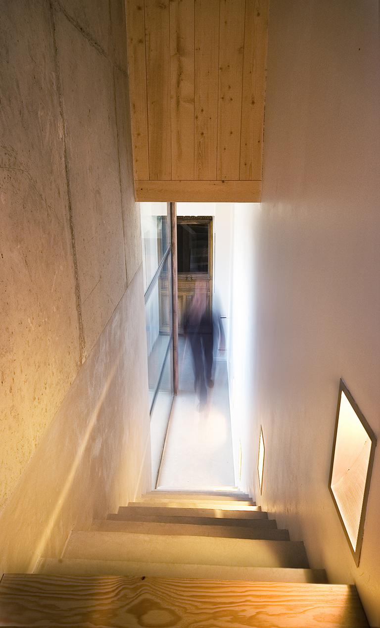 escalier en bois, modernité