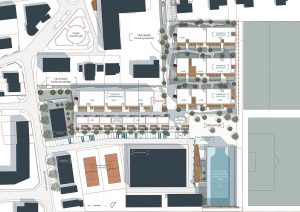 plan de masse, logements, collectif
