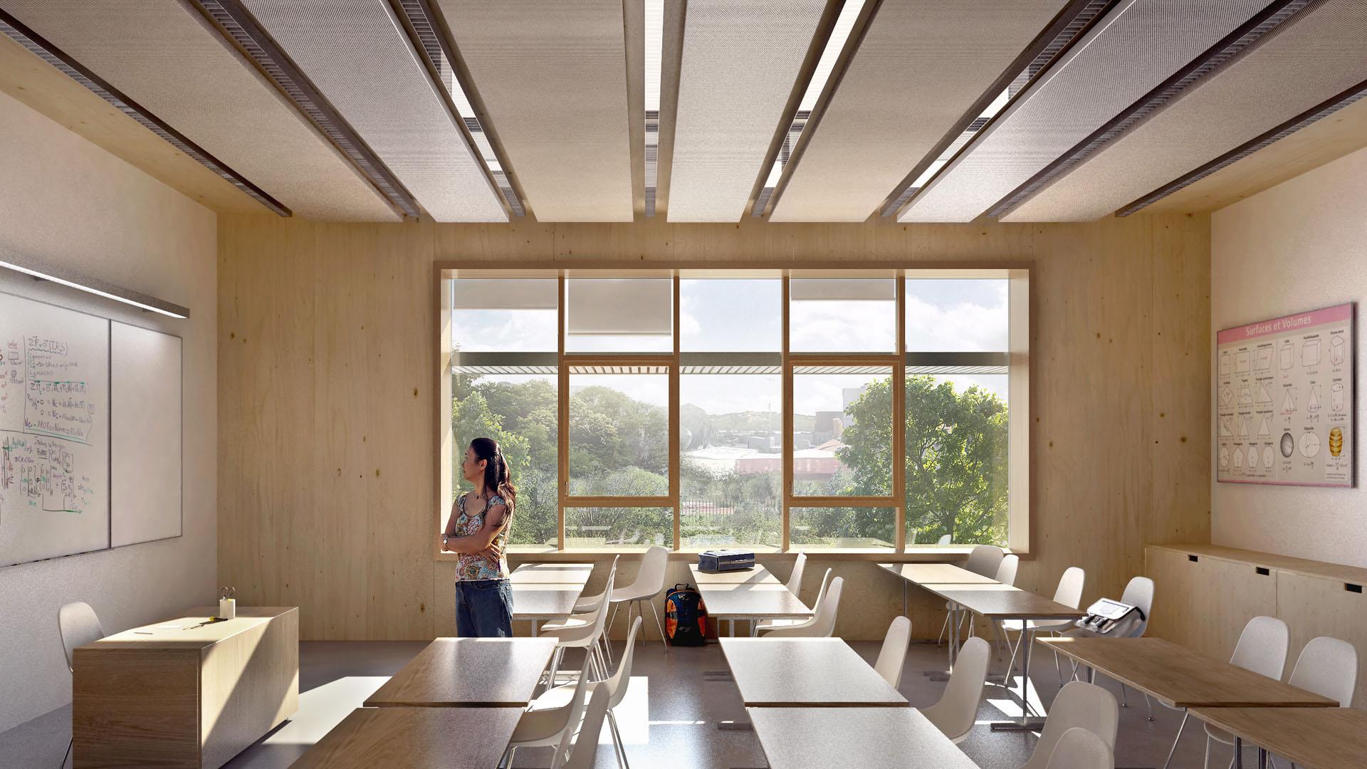 Seuil architecture - Le choix de matériaux biosourcés (parois en ossature bois garnies de paille) et le recours à la géothermie garantissent une enveloppe thermique optimale