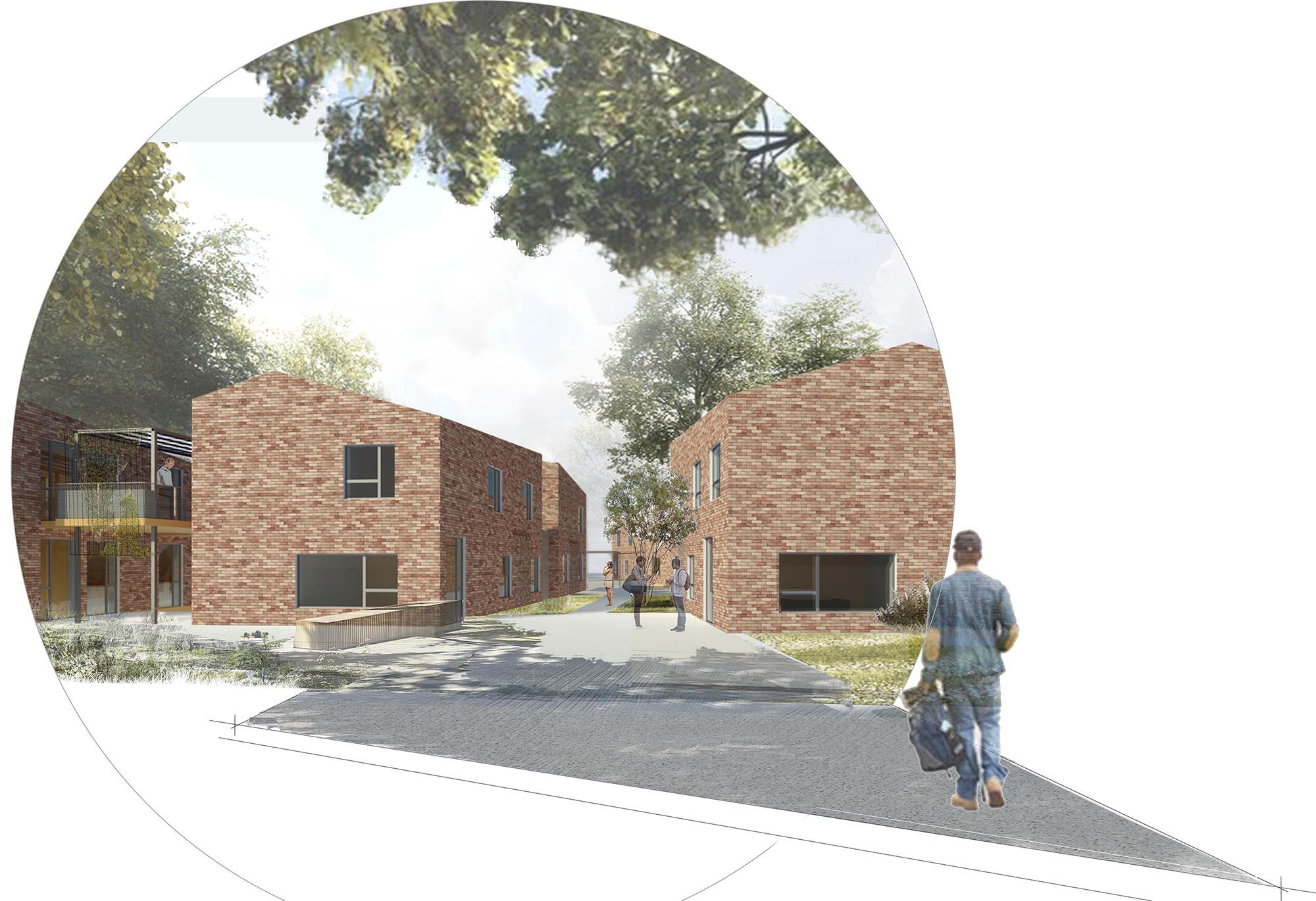 Seuil architecture - Eco-campus de l'école supérieure de La Raque - Quatre bâtiments de logements étudiants interconnectés