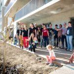 Seuil architecture offre un arbre aux habitants coopérateurs d'Abricoop.