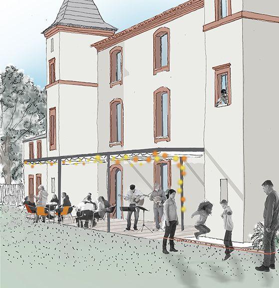 Le projet de rénovation du château de La Mounède valorise le patrimoine bâti et fait le lien avec le parc boisé.