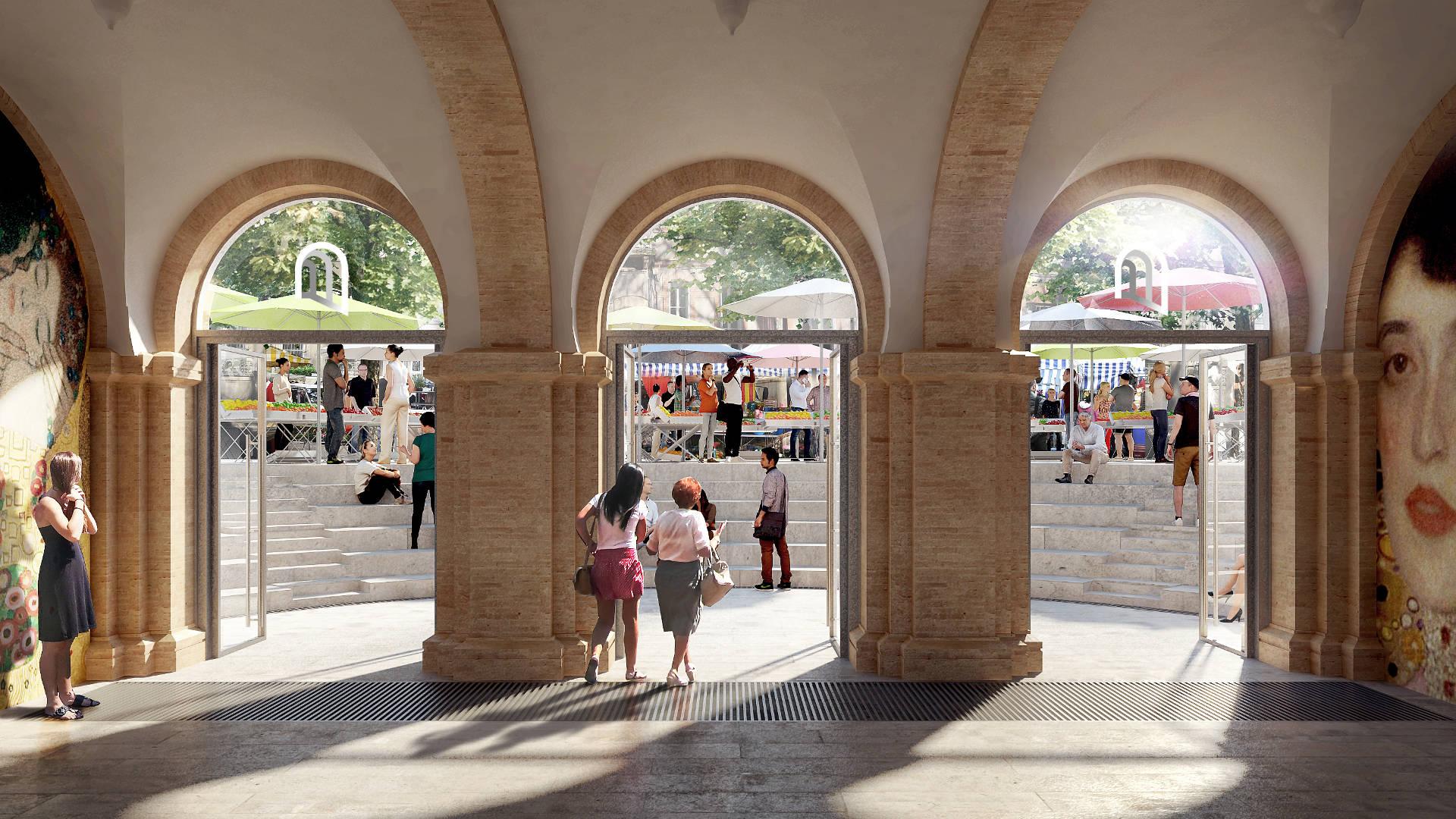 Seuil-architecure-crypte-saint-aubin-toulouse-perspective-entree